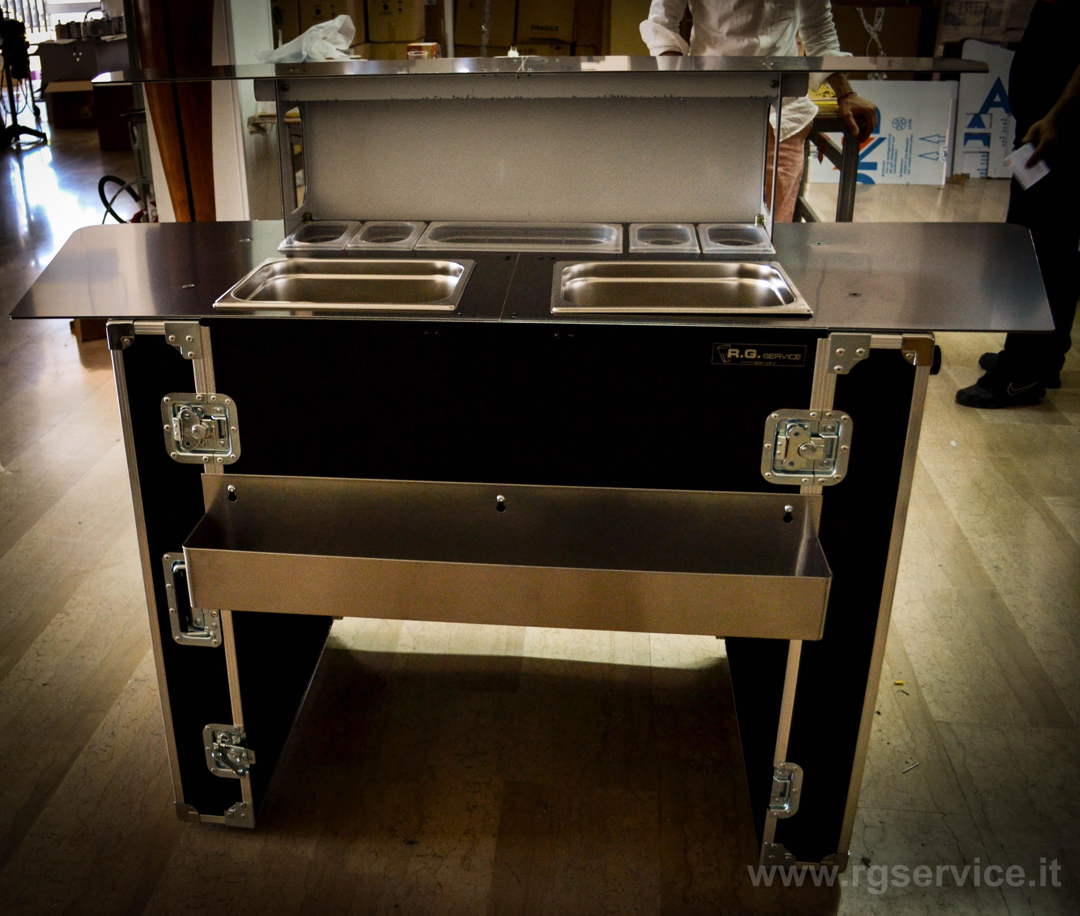 Bancone bar in valigia for Usato bancone bar